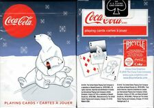 Coca-Cola Coke Holiday Polar Bear Share Playing Cards Poker Size Deck USPCC New