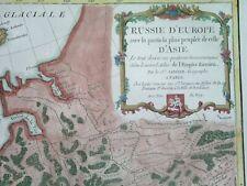 1771 RARE NICE ORIGINAL MAP with arms RUSSIA ESTONIA LATVIA MOSCOW PETERSBURG