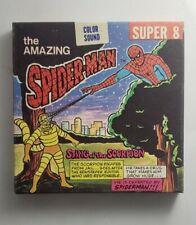 1976 AMAZING SPIDER-MAN STING OF SCORPION SUPER 8 KEN FILMS MOVIE REEL RARE VTG