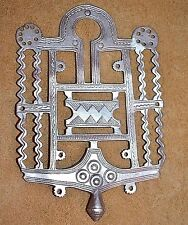 Antique Nomadic Tuareg Tribal Ethnic Silver Cross Amulet Pendant - Niger, Africa