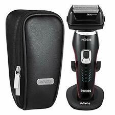 Povos Electric Foil Shaver 4 Blade Wet and Dry Men's Cordless with Flexible P...