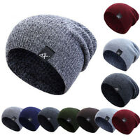 Women/Men Knitted Warm Winter Slouch Beanie Hat Cap Outdoor Skateboard Casual