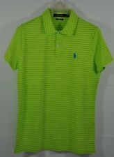 W's Ralph Lauren Polo Golf, Tailored-Fit PIMA-Cotton GEORGINA Stripe Polo,Size S
