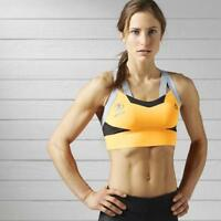 Reebok Spartan Pro Sports Training Bra Top S99817 Orange Fire Spark