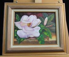 Original Floral Oil On Canvas Painting by Eillen W.