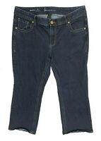 LANE BRYANT Genius Fit plus size 18 SHORT dark wash blue bootcut jeans