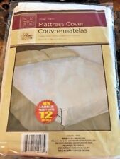 Mattress Cover, Twin Fitted Plastic Lightweight, Bedwetting Protection  New Pkg