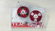 Teac Audio Tape neu blank Rot Rollen Farbe Cassette Reel to Reel