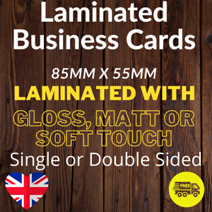 Laminated Business Cards Full Colour Single or Double Sided 400gsm Silk