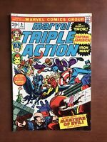 Marvel Triple Action #9 (1973) 8.0 VF Bronze Age Comic Book Avengers High Grade