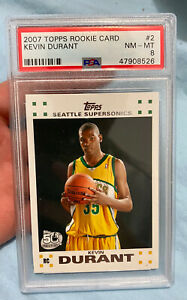 Kevin Durant RC Topps Rookie #2 PSA 8 Newly Graded Brooklyn Invest 📈🔥White QTY