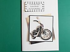Personalised Handmade Birthday,Fathers Day,18th,21st,40th Card  Motor Bike
