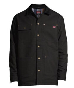 Wrangler Men's Flex Barn Chore Coat Jacket with Warm Durable Blanket Lining 2XL