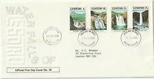 1981 Lesotho FDC cover Waterfalls of Lesotho