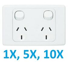 10 A X Amp 240V Double Electrical Wall Socket outlet GPO Power Points free post