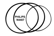 SET BELTS PHILIPS N4407 REEL TO REEL EXTRA STRONG NEW FACTORY FRESH N 4407