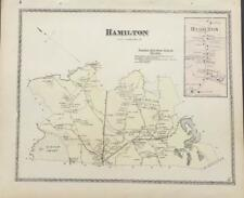 Antique Map Hamilton, MA - DG Beers Atlas of Essex County 1872