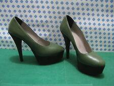 DONNA  SCARPE PELLE Primadonna Tacco 12  n°40 Bicolore Verde - Made in Italy