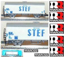 RIVAROSSI VINTAGE 2466 CARRO VAGONE MERCI FRIGO STEF REEFER CAR SNCF BOX SCALA-N