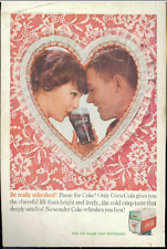 Coca Cola Advertisement - Vintage 1960 Coke Soda Pop Valentine Heart Print Ad