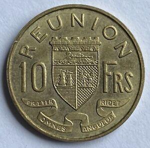 Reunion 10 Francs 1964 (KM#10)