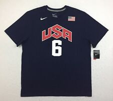Nike Lebron James USA Dream Team Olympic Basketball Jersey Tee T Shirt Men's 2XL