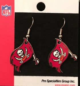 Tampa Bay Buccaneers Primary Logo J Hook Dangle Earrings NEW Super Bowl 55 LV