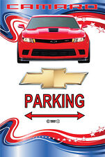 Parking Sign - Chevy Red Camaro 2013 American Stars and Stripes Look