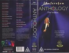 JOHN FARNHAM ANTHOLOGY  THE VIDEOS  VIDEO  PAL VHS~  RARE