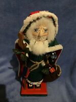 "1997 15"" Nutcracker Village Old World Woodland Santa Claus Wooden Christmas"
