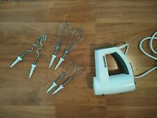 Oreck Vertical Hand Mixer 5 Speed White With Beaters Bin 3