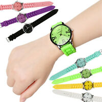 Sports Wrist Watch Rubber Silicone Bracelet Strap Band Jelly Quartz Analog US