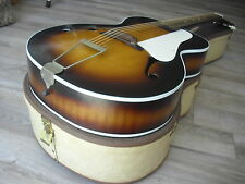 1959 Airline F hole Arch top acoustic guitar Vintage 50's USA Montgomery Wards