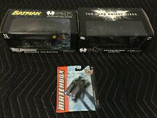 Mezco Mez-itz Batmobile & Batman Figure + Dark Night Rises + Matchbox The Bat