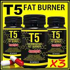 180 T5 FAT BURNER CAPSULES PURE STRONGEST LEGAL SLIMMING PILLS DIET WEIGHT LOSS