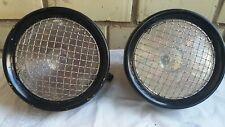 Vintage Joseph Lucas Ltd King Road Type RB50 8.66 inch lamps Bentley Morgan pair
