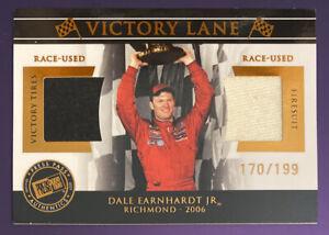 DALE EARNHARDT JR. 2007 Press Pass 170/199 Race-Used WIN TIRE & FIRE SUIT