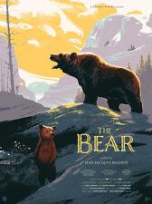 THE BEAR by MARK WIGGINS 18x24 SCREEN PRINT NOT MONDO