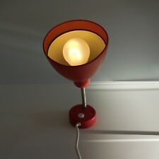 Eclairage lampe rouge lighting table lamp red metal art deco IKEA