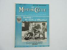 May 1956 THE MOTORCYCLE Magazine Matchless Clubman Model G3 LS 350 OHV L8226