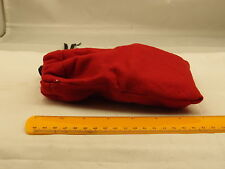 Red Soft Cloth Protection Case Pouch Bag Cover With Drawstring 6X4""
