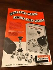 1972 VINTAGE 8X11 TOY PRINT Ad FOR LAKESIDE GAMES PERQUACKEY WORD GAME