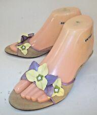 e4fc17fbf61 Unisa Wos Shoes Sandals TULIP US 6.5 Beige Suede Floral Kitten Heels Open  Toe