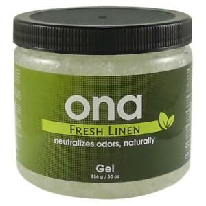 ONA Fresh Linen Gel 25.8 oz Quart  - odor air neautralizer control crystal pro