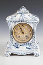 Late 19Th Century Delft Mantle Clock, Late 19th Century. Works marke. Lot 722A