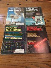 Popular Electronics Magazines Lot of 8 1960s Vintage