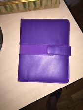 """Kindle Purple Leather Cover - New Without Tags- 8"""" X 6"""" Nice!"""
