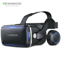 VR Shinecon 6.0 Smart Virtual Reality 3D VR Glasses with HiFi Stereo Headphone