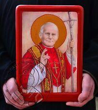 Saint JOHN PAUL II Religious Catholic Icons Iconography Art Gold Plating Gifts