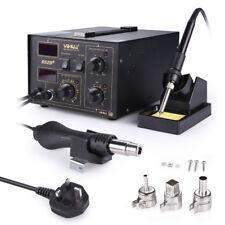 852D+ 230 V 2in1 DC Alimentatore KIT di saldatura Stazione di rilavorazione pistola ad aria calda saldatore